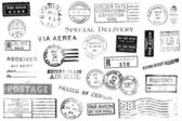 Conjunto de marcas postais vintage — Foto Stock