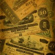 Old Confederate Money Background - Foto de Stock