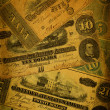 Old Confederate Money Background - Foto Stock
