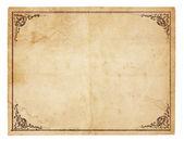 λευκά εκλεκτής ποιότητας χαρτί με παλαιά σύνορα — Φωτογραφία Αρχείου