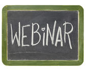 Webinar blackboard sign — Stock Photo