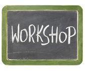 Workshop schoolbord teken — Stockfoto