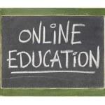 Online education blackboard sign — Stock Photo #6820804