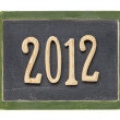 Year of 2012 on blackboard — Foto Stock