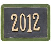 Year of 2012 on blackboard — Stock Photo