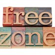 Free zone in letterpress type — Foto Stock