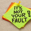 It is not your fault — Stock Photo