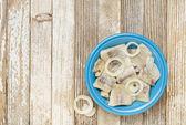 Herring in wine with onion — Stock Photo