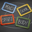 Body, mind, soul, and spirit concept — 图库照片