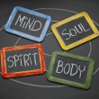 Body, mind, soul, and spirit concept — Stock fotografie