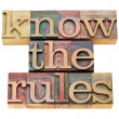 Know the rules - Stok fotoğraf