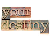 Your destiny in letterpress type — Stock Photo