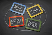 Body, mind, soul, and spirit concept — Stock Photo