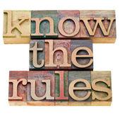 知道规则 — 图库照片