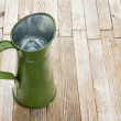 Vintage metal water pitcher — Stock Photo