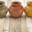 Rustic clay pots — Stock Photo