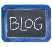 Blog on slate blackboard — Stock Photo