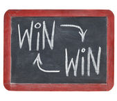 Win-win concept on blackboard — Stock Photo