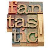 Fantastic word in letterpress type — Stock Photo