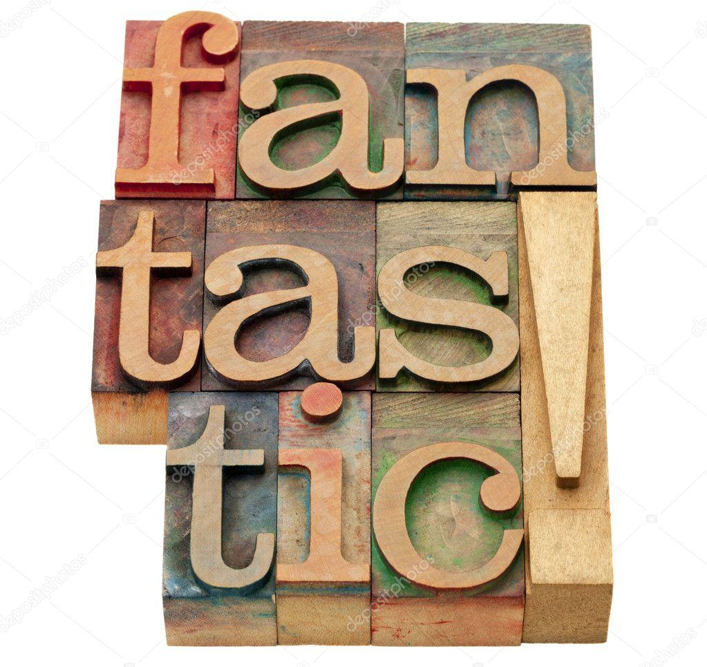 mot fantastique dans type de typographie — Photo #7362494