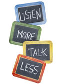 Listen more, talk less — Foto Stock