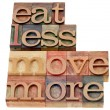 Постер, плакат: Eat less move more