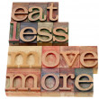 Eat less, move more — Stock Photo