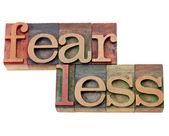 Fearless word in letterpress type — Stock Photo