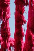 Färgat garn — Stockfoto