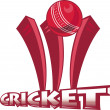 Stock Photo: Cricket sports ball wicket