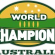Rugby ball world champions australia — Stock Photo
