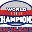 Rugby ball world champions England — Stockfoto
