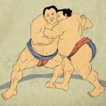 Постер, плакат: Japanese sumo wrestler