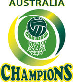 Netball Ball Hoop champions Australia — Stock Photo
