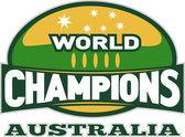 Bola de rugby mundo campeões austrália — Fotografia Stock