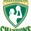 Royalty-Free Stock Photo: Netball champions Australia