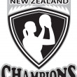 Netball player New Zealand Champions — Stock Photo