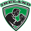 Rugby player Ireland shield — Stock Photo