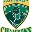 Rugby player Australia Champions shield — Stock Photo