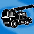 Construction rough terrain crane — Stock Photo