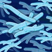 Bacteria cell grouping — Stock Photo