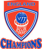 Netball champions England — Stock Photo