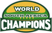 Rugby ball world champions south africa — Stock Photo