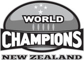 Rugby ball world champions New Zealand — Stock Photo