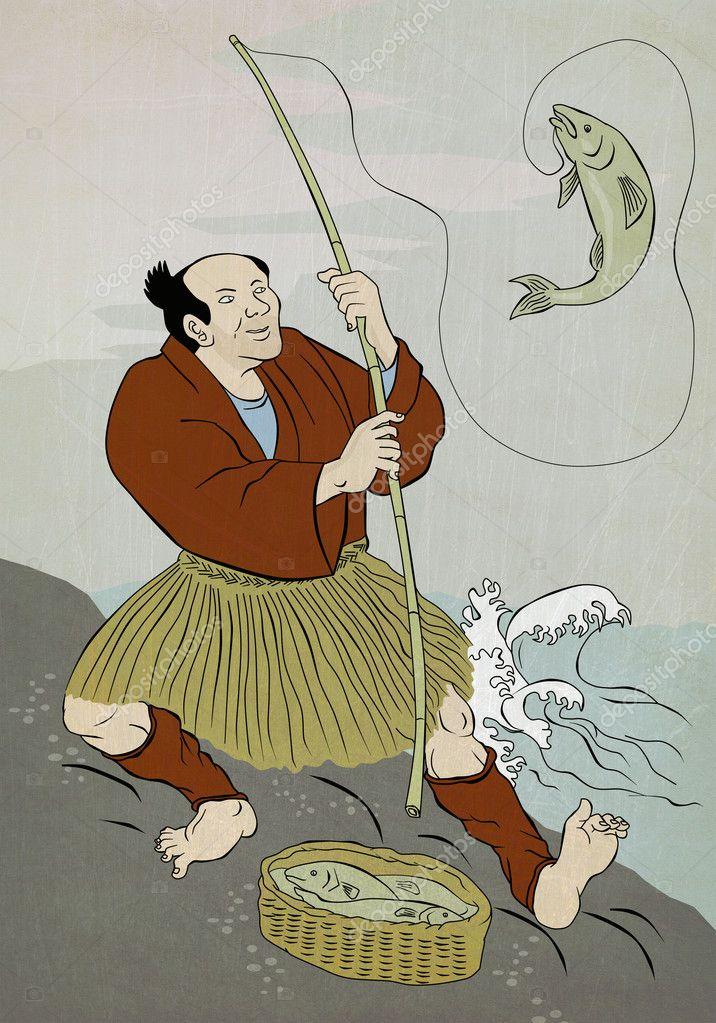 японцы ловят форель