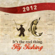 Fishing Poster Calendar 2012 Trout Fish — Stock Photo