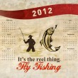 Stock Photo: Fishing Poster Calendar 2012 Trout Fish