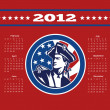 American Patriot Flag Poster Calendar 2012 — Stock Photo