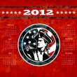American Patriot Flag Poster Calendar 2012 - Stock Photo