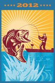 Fishing Poster Calendar 2012 Largemouth Bass — Стоковое фото
